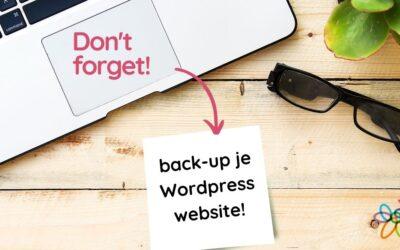 Hoe maak je een backup van je WordPress website?
