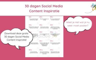 30 dagen Social Media Content inspiratie